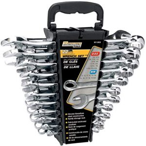 """Performance Tool W1099 22-Piece SAE and Metric Wrench Set 