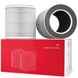 Vremi 2 Pack H13 Air Purifier Replacement Filter - True HEPA and Activated Carbon Filters Compatible with Compact Portable Air Purifiers - Lasts for 180 Days or 6 Months Equivalent to 4320 Hours