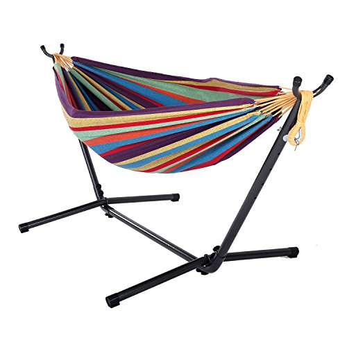 TRRAPLE Hammock Set with Stand, 1 Set Sleeping Swing Set for Indoor Outdoor Backyard Travel Lawn Pool Camp