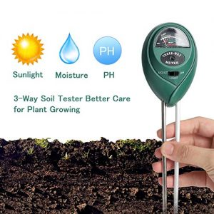 Soil Ph Meter for Soil Test Kit with pH Moisture Meter PrecisionTest Soil Ph Plant for Garden Indoor & Outdoor, No Batteries Required
