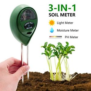 [2019 Upgraded] Soil Moisture Meter - 3 in 1 Soil Test Kit Gardening Tools PH, Light & Moisture, Plant Tester Home, Farm, Lawn, Indoor & Outdoor (No Battery Needed)