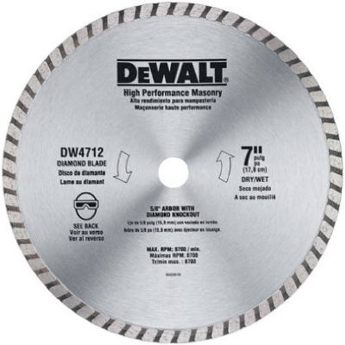 DEWALT Diamond Blade for Masonry, 7-Inch (DW4712B)