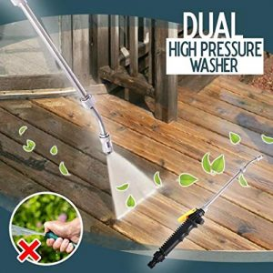 Shan-S 2-in-1 High Pressure Washer, Dual High-Pressure Water Hose Nozzle Washing Power Washer Wand for Car Home Application Wood Brick Concrete Plastic Window Glass Cleaning Air Conditioning