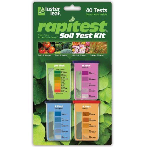 Luster Leaf 1601 Rapitest Test Kit for Soil pH, Nitrogen, Phosphorous and Potash