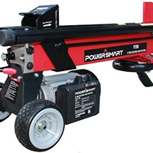 PowerSmart PS90 6-Ton 15 Amp Electric Log Splitter, Red, Black