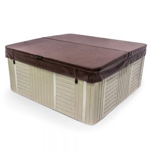 78 x 78 Inch Replacement Spa Cover and Hot Tub Cover - Brown
