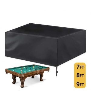 Saking 7/8/9 ft Billiard Pool Table Covers with Drawstring (8ft: 102x53x32in)