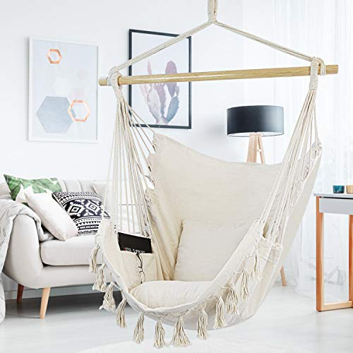WBHome Hammock Chair Swing with Hanging Hardware Kit ...