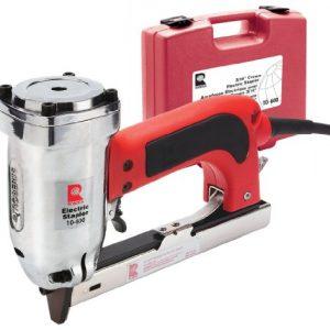 """ROBERTS 10-600 3/16"""" Crown, 120V, 15-Amp, 20 Gauge Electric Stapler with Carrying Case, Red"""