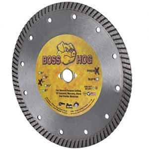 "Boss Hog 7-Inch (7"") X .090 X DM-5/8"" Dry/Wet Diamond Blade for High Performance Cutting of Masonry, Concrete, Stone, Roof Tile and More."