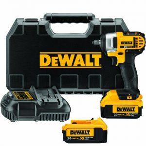DEWALT 20V MAX Cordless Impact Wrench Kit with Hog Ring, 3/8-Inch (DCF883M2)