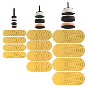 Fulton 129 Piece Bowl Sanding Disc Set | 1, 2 and 3 inch Padded Mandrels |1 Soft and 1 Medium Interface Pad for Each Mandrel Size and 10 ea 80, 120, 150 and 220 Grit Discs for Each Mandrel Size