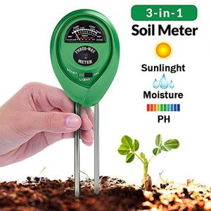 Soil Tester, 3 in 1 Soil Test Kit for Moisture, Light & pH Meter for Plant, Vegetables, Garden, Lawn, Farm, Indoor/Outdoor Plant Care Soil Tester (No Battery Need & 2019 Update) (Green)