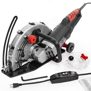 "XtremepowerUS 2600W Electric 14"" Disc Cutter Circular Saw Concrete Saw Power Angle Cutter Wet/Dry Circular Blade w/Guide Roller"