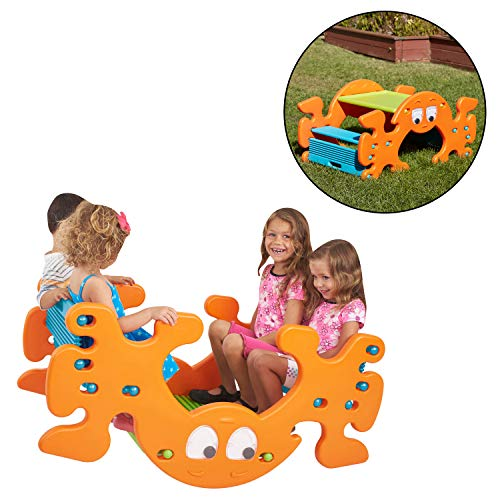 ECR4Kids Phanty Pic-N-Rock Indoor/Outdoor Multipurpose Picnic Table and Seesaw for Kids