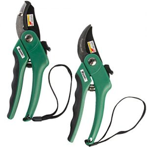 "Bryant 8"" (1 Bypass Pruner & 1 Anvil Pruner) Pruning Shears Stainless Steel Pruner Garden Scissors Heavy Duty Hand Pruners - 2 Pack Set"