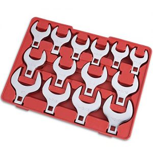 """14-Piece Premium 1/2"""" Drive Jumbo Crowfoot Wrench Set 