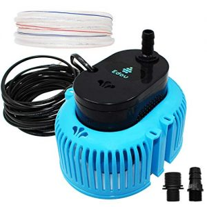 EDOU 850 GPH Swimming Pool Cover Pump Above Ground,Including 16' Drainage Hose and 3 Adapters,Ideal for Water Removal,Blue and Black