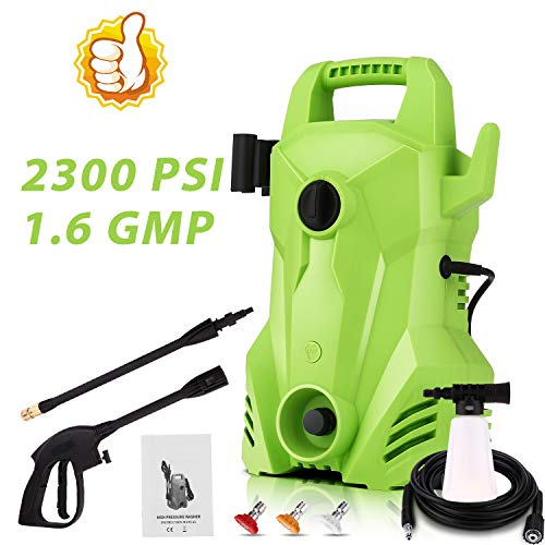 Homdox Electric Pressure Washer 2200 PSI, 1400W 1.5 GPM Portable Electric Power Washer