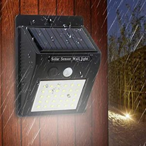 Solar Lights Outdoor, Rechargeable Wireless, Water Proof, Motion Detecting, for Garage, Patio, Fence