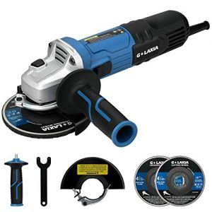 "Angle Grinder, G LAXIA 6A(750W) 4-1/2"" Electric Angle Grinder with Side Handle, 1pcs Grinding Wheel and 1pcs Cutting Wheel for for Removing Paint & Mortar, Cutting and Grinding"