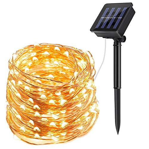 ECOWHO Solar String Lights Outdoor, 72ft 200 LED Solar Powered Fairy Lights Waterproof Decorative Lighting for Patio Garden Yard Party Wedding (1)