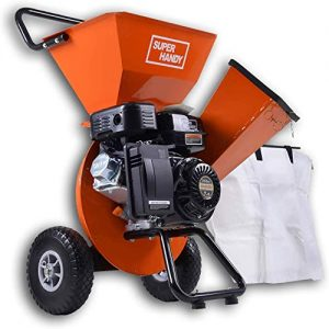 "SuperHandy Wood Chipper Shredder Mulcher Ultra Duty 7HP Gas 3 in 1 Multi-Function 3"" Inch Max Wood Capacity EPA/CARB Certified for Fire Prevention/Building Firebreaks (Amazon Exclusive only for USA)"