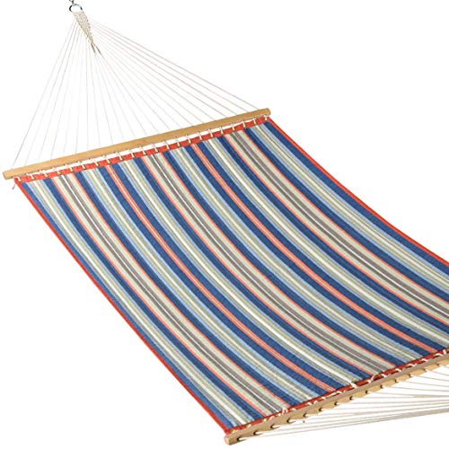 Caribbean Hammocks - Quilted Hammock (Red & Blue Stripe)