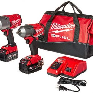 "Milwaukee 2 PC M18 FUEL Auto Kit - 1/2"" Impact Wrench and 3/8"" Impact Wrench"