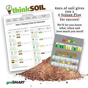 thinkSOIL Garden Soil Test kit and 4 Season Nutrient Management Plan, Professional Soil Analysis Results for Healthy Garden Soil All Year Long