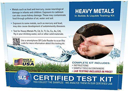 Heavy Metals Test Kit in Ground/Waste Water or Soil 1PK (5 Bus. Days) Schneider Labs