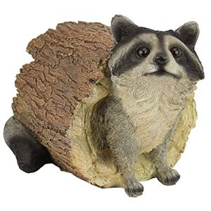 Design Toscano QM24625001 Bandit the Raccoon Garden Animal Statue, 10 Inch, Polyresin, Full Color,Multicolored