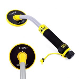 ETE ETMATE Metal Detector, Handheld 100 feet Waterproof Pulse Induction Metal Finder with Pinpoint Feature LCD Indicator for Underwater Metal Detecting Gold Digger and Treasure Hunting