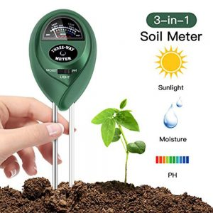 Soil Test Kit 3-in-1, PH Meter + Moisture +Light for Farmland Garden Lawn Plants Herbs Gardening Soil Tester