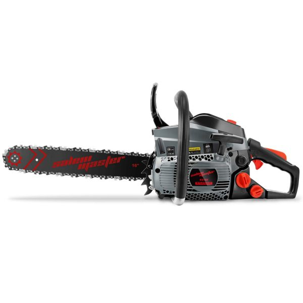 SALEM MASTER 4216F 42CC 2-Cycle Gas Powered Chainsaw, 16-Inch Chainsaw, Handheld Cordless Petrol Gasoline Chain Saw for Farm, Garden and Ranch