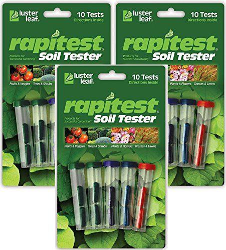 Luster Leaf Pack of 3 Rapitest Soil Testers