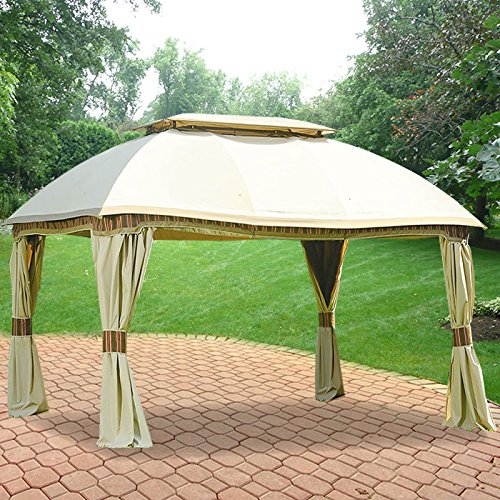 Garden Winds Replacement Canopy for The Sam's Club Dome Gazebo - Standard 350 - Beige