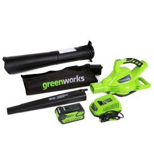 Greenworks 40V 185 MPH Variable Speed Cordless Leaf Blower/Vacuum
