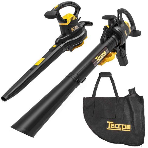 TECCPO Leaf Vacuum, 12 Amp 3-in-1 Leaf Blower/Vacuum/Mulcher