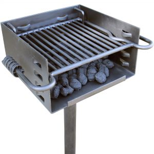 Titan Distributors, Inc. Outdoor Park-Style Charcoal Grill for Camping and Cookouts, BBQ Accessories