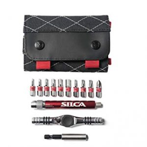 SILCA T-Ratchet + Ti-Torque Kit + 10 s2 High Vis hex/torx/phillips bits + waxed canvas carrying case