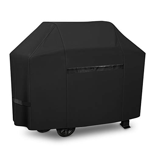iCOVER Grill Covers 65 inch Gas Barbeque BBQ Cover, 600D Heavy Duty Waterproof Canvas, UV Resistant & No Fading, for Weber Char Broil Holland Jenn Air Brinkmann