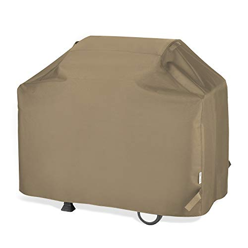 "Unicook BBQ Grill Cover 65 Inch, Heavy Duty Waterproof Outdoor Barbecue Gas Grill Cover with Sealed Seam, Rip and Fade Resistant, Fits Weber Charbroil Grills, 65"" W x 24"" D x 44"" H, Neutral Taupe"