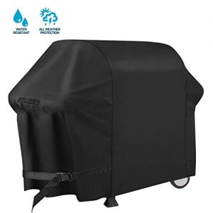 PATIOPTION BBQ Grill Cover, 30inch Heavy Duty Barbeque Gas Cover 600D Waterproof No Fading Smoker Covers, for Weber,Char Broil, Holland, Jenn Air, Brinkmann (UV/Dust/Weather Resistant/Rip Resistant)