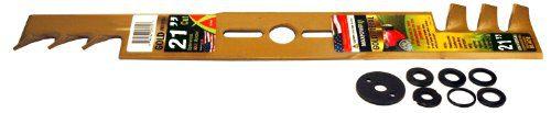 Maxpower 331981B 21-Inch Universal Gold Metal Mulching Lawn Mower Blad, black