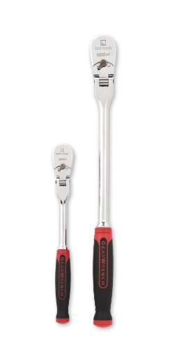"""GEARWRENCH 2 Pc. 1/4"""" and 3/8"""" Drive 120XP Dual Material Flex Head Teardrop Ratchet Set - 81204P"""