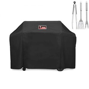 Kingkong Grill Cover 7130 Premium Outdoor Cover for Weber Genesis II 3 Burner & Genesis 300 Series Grill and Genesis II LX 300 Series Gas Grill Including Stainless Steel Meat Fork, Spatula and Tongs …