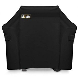 JIESUO BBQ Gas Grill Cover for Weber Spirit and Spirit II 210: Heavy Duty Waterproof 48 Inch 2 Burner Weather Resistant Ripstop Outdoor Barbeque Grill Covers