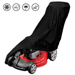 ASHLEYRIVER Lawn Mower Cover Waterproof Heavy Duty Push Mower Covers,UV Protection Universal Fit with Drawstring & Cover Storage Bag