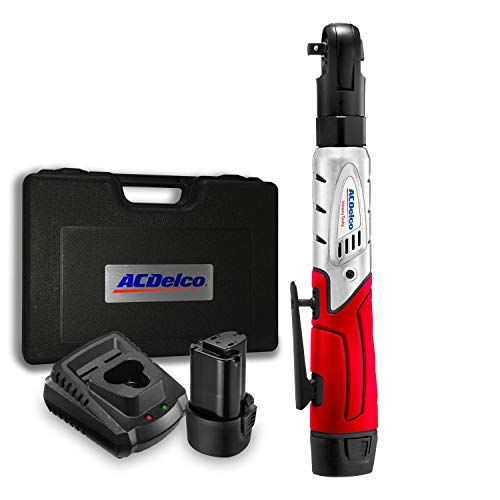 """ACDelco Cordless 3/8"""" Ratchet Wrench 57'-Lb of max Torque Tool Set with 2 Batteries & Charger, Carrying Case ARW1201"""